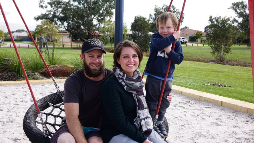 Deanne with her husband Dean and son Tory.