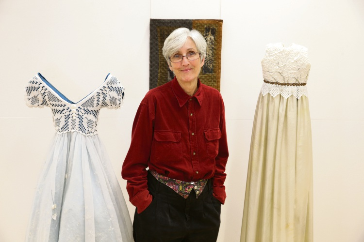 Narrative Threads curator and exhibitor Wendy Lugg. Picture: Martin Kennealey.