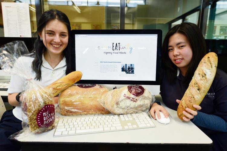 Year 11's L to R - Lily Purser (Fremantle) & Alyssa Wong (Landsdale). Photo: Jon Hewson