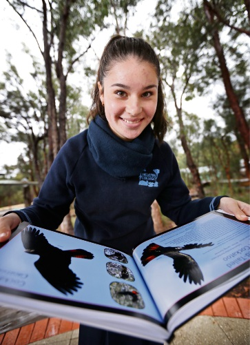 Helena College student Beth Shaw (15) of Glen Forrest, has produced books called