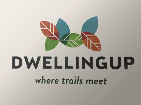 Dwellingup's new branding.