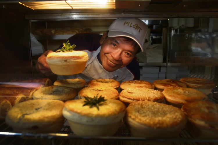 Vuong Dong, owner of Brighton Bakery, claimed seven awards at the Royal Bread and Pastry Show last week, including gold for fruit scones, silver for pasties and buttermilk scones and bronze for meat pies. Picture: Andrew Ritchie.