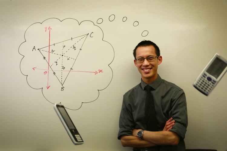 Australian local hero, maths teacher Eddie Woo. Photo: Andrew Ritchie
