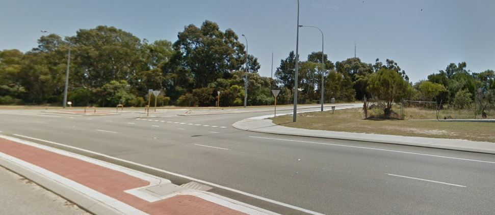 The Wanneroo Road and Clarkson Avenue junction.
