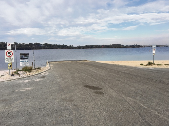The boat launching facility at Deep Water Point will be upgraded.