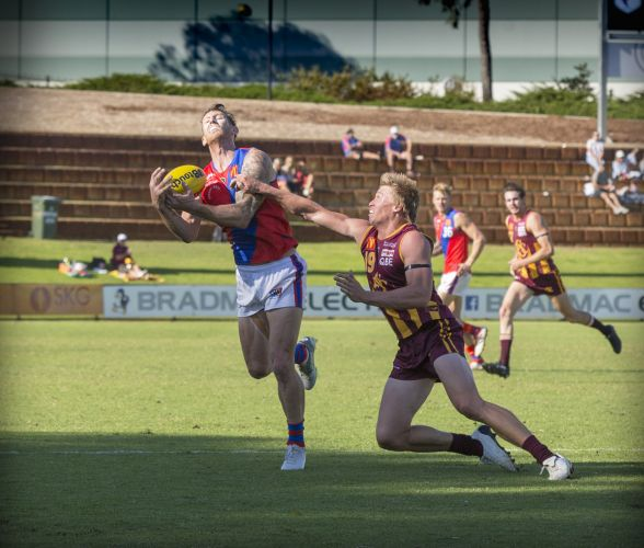 Action from the last battle between the sides when Subiaco won by 22 points. Picture: Dan White