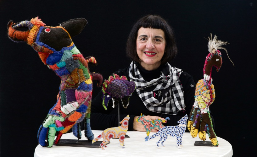 Artitja Fine Art gallery director Anna Kanaris with some of the artworks that will be on display at the City of Melville's Civic Centre. Picture: Martin Kennealey