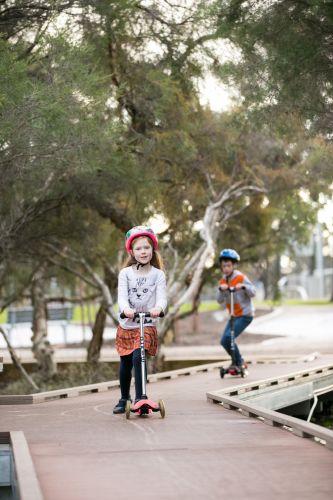 Children enjoying Mills Park.
