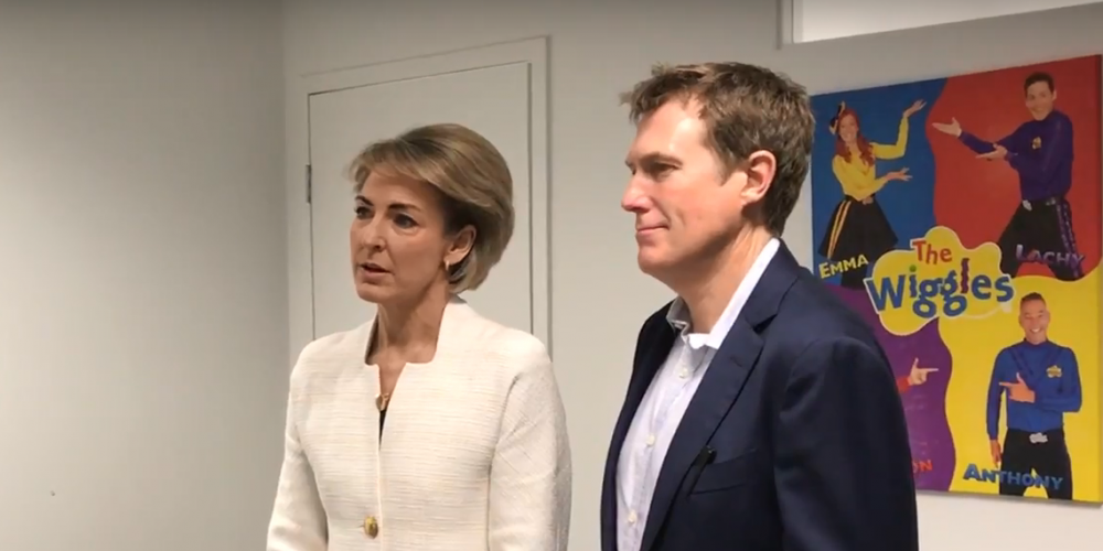 Michaelia Cash and Christian Porter at the launch.