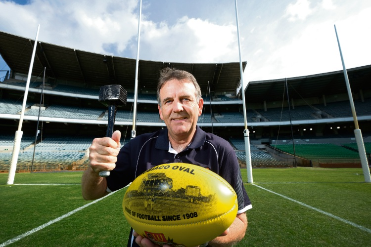 Dave Croft from Ross's Auctions. Items from Subiaco Oval are set to go under the hammer from this Saturday, with the first auction selling largely catering and function equipment. Picture: Andrew Ritchie.