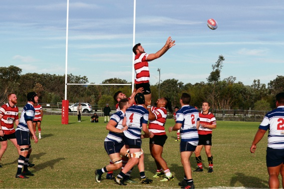 Ben Calder wins a lineout for ARKS