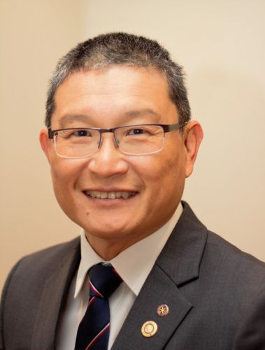 New Rotary Club of Perth president Wesley Sim.