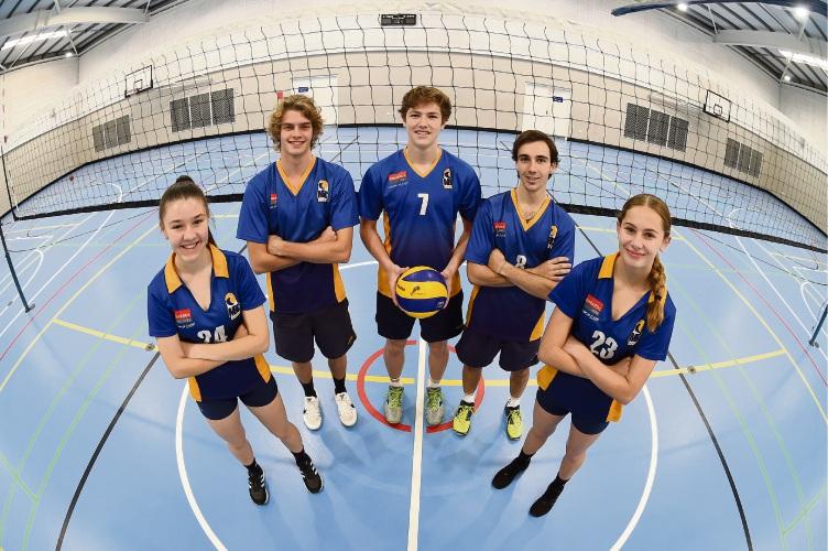 L to R - Ellie Adams, Shona Howie, Riley Branch, Sheehan Howie & Josh Howat. Photo: Jon Hewson