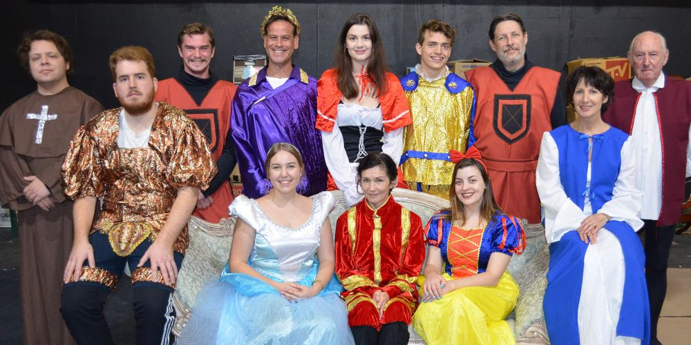 The cast of Fairytale of Sorts features (back) Adam Lebransky, Chris Kennedy, Regan Agostini, Alex White, Blake Hughes, Tim Riessen and Patrick McLanaghan and (front) Doryan Kurtovic, Heathridge resident Tori Brown, Jane Triffit and Joondalup resident Tania Morrow.