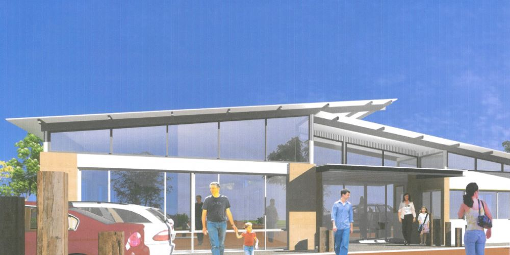 An artist's impression of the proposed child care centre.
