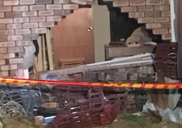 The damage in Kardinya. Photo: James Carmody
