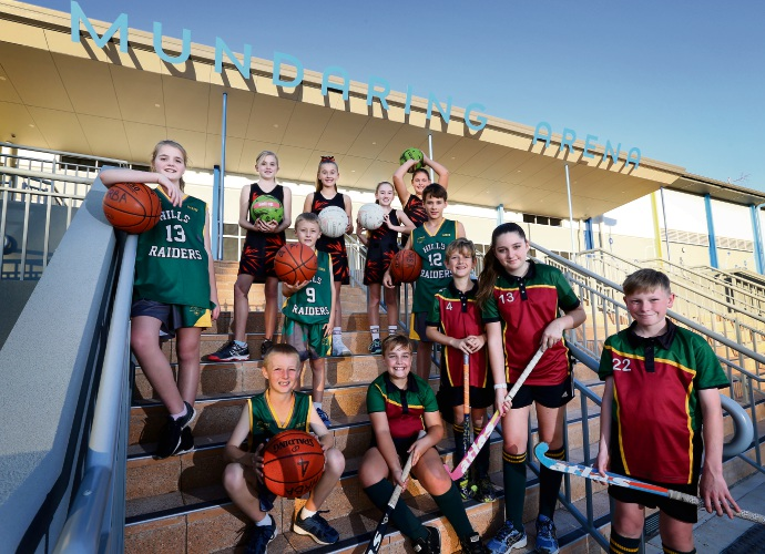 Sports clubs are thrilled with the new Mundaring Arena. Picture: David Baylis d482677