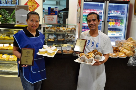 Millstream Patisserie owners Yen Ma and Hieu Dinh. Picture: Bronwyn Donovan.