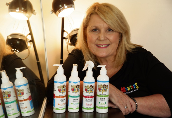 Hairdresser and Moptops Haircare 4 Kids founder Chris Gaskell is awash with offers from Europe. Picture: Martin Kennealey www.communitypix.com.au d484509