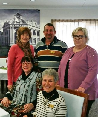 Alzheimer's WA chief executive Rhonda Parker (back from left) with York Shire President David Wallace, Balladong Lodge Facility Manager Sarah Newbon and York Councillors Denese Smythe and Jane Ferro.