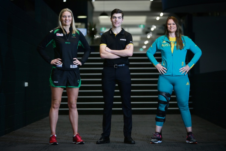 VenuesWest Brand ambassadors (l-r) Courtney Bruce, Conor Kennedy and Sarah Edmiston. Picture: Andrew Ritchie.