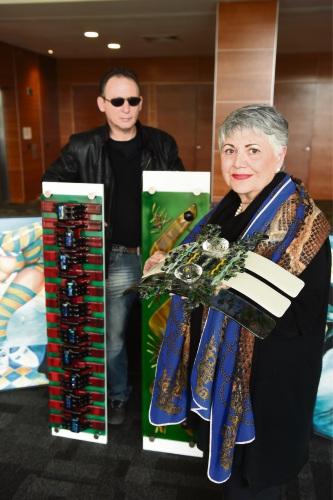 Artist George Taniani & Mireille Tewfik.