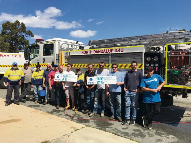 Alcoa employees volunteering for North Dandalup Fire Brigade.