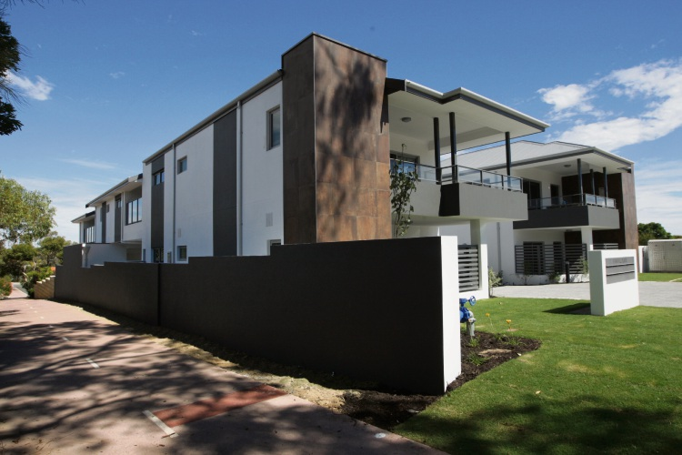 The 10-unit development at 6 Argyll Place, Duncraig. Picture: Bruce Hunt.