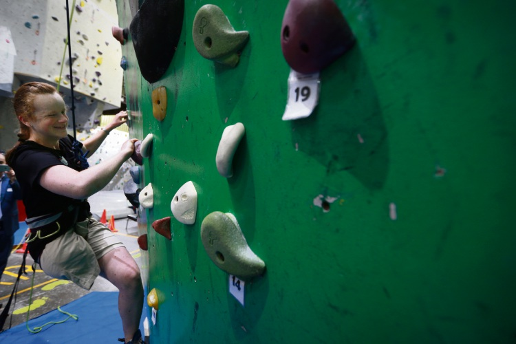 Kyile Forth (Crawley), Vision Australia hosted community members who are blind or low vision for a day of indoor rock climbing at Rockface in Northbridge