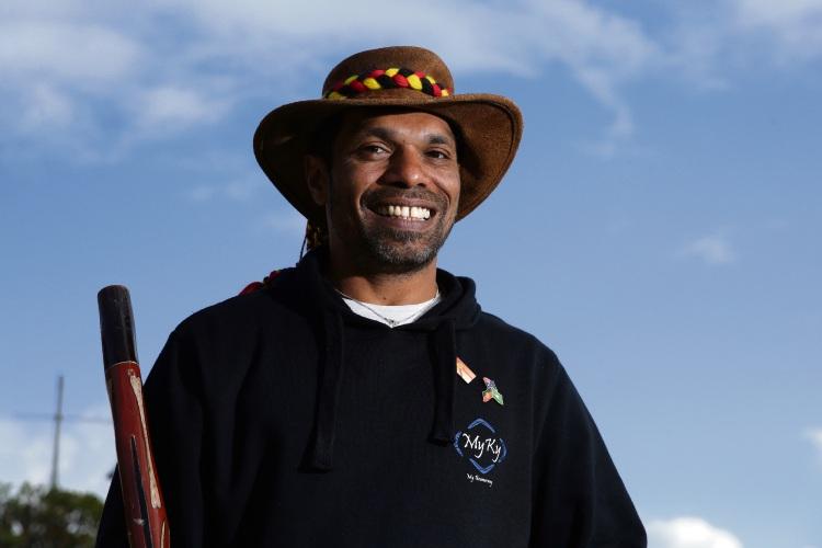 Scott Chisholm at Walyalup Aboriginal Cultural Centre. Photo: Martin Kennealey