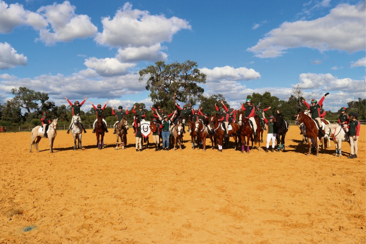 Wanneroo Horse and Pony Club members celebrate winning the Marsden Cup. Pictures: Arlene Lockwood
