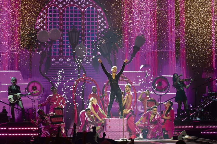 Pink kicks off the Australian leg of her Beautiful Trauma World Tour in spectacular fashion at Perth Arena