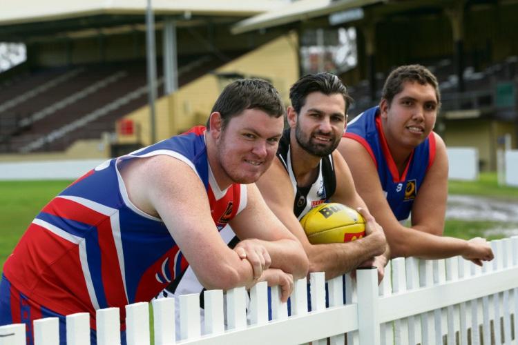 David Hallows, Tony Notte (Swan Districts co captain) and Graeme Govan Picture: Bruce Hunt www.communitypix.com.au d484502