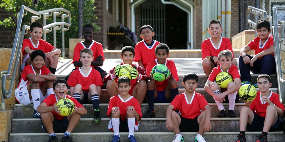 Eddystone Primary School soccer team. Picture: Martin Kennealey