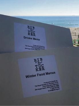 New Braille menus at Bib & Tucker and May Street Larder