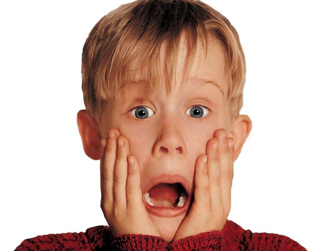 Kevin from Home Alone, played by Macauley Culkin.