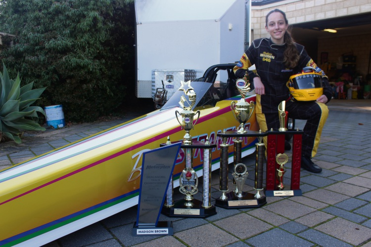 Madison Brown is looking forward to her first junior drag racing competition since the State Government banned the sport.