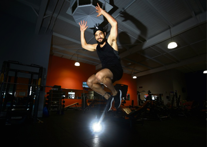 Levi Kissick-Ponga of Gosnells broke the world recod for most burpees in 2016 and raised money for Cancer Council. This year he is attempting three new records and again, raising money for cancer research at Plus Fitness 24/7 in Wattle Grove. Photo: Matt Jelonek.