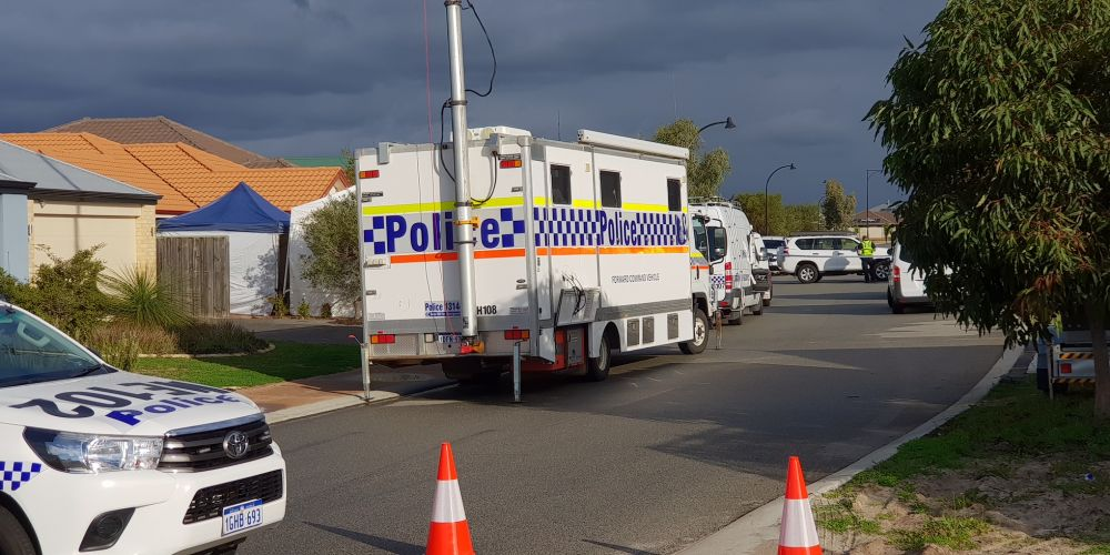 Ellenbrook triple homicide investigation  is on going. Credit: David Baylis