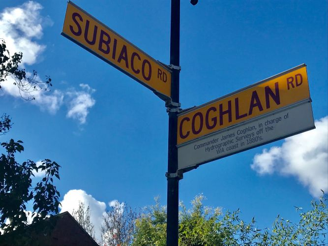 The intersection of Roberts Road and Coghlan Road.