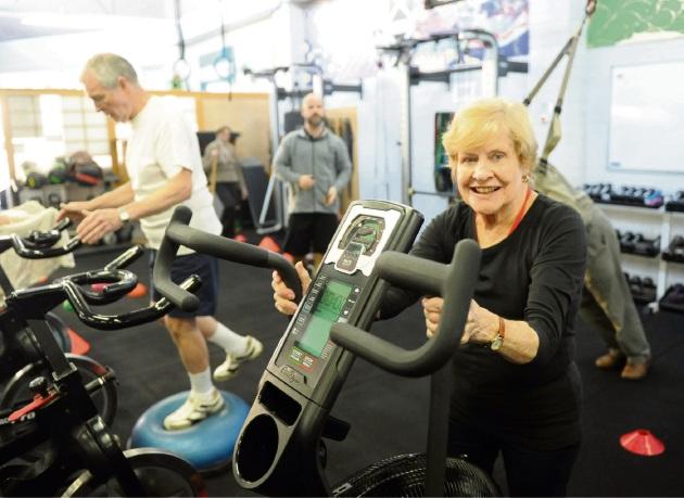 Bev Harper attends Living Longer, Living Stronger at Essence Fitness. Picture: Jon Bassett