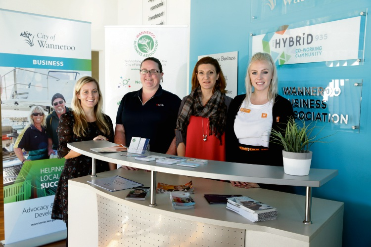 Wanneroo Business Association liaison officer Lauren Bell, First Class Accounting's Niamh Campbell, Ascend Financial Freedom Jacquie Saville and Bankwest's Marnie Riou. Picture: Martin Kennealey d484714