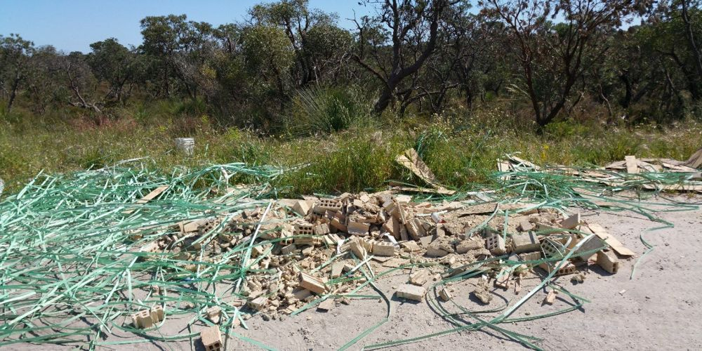 The illegal dumping. Picture: Department of Water and Environmental Regulation