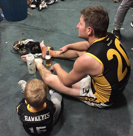 Tony O'Connell with son Jax.