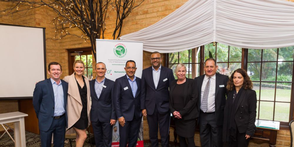 WBA board members Andrew Jennings, Chantell Downsborough, Peter Armstrong, Nigel Santa Maria, Dinesh Aggarwal, Felicity Lockyer, Greg Comans and Jalleh Sharafizad. Picture: Michael Goh