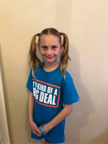 Amelia Hindmarsh is taking part in the World's Greatest Shave.