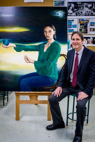 Hale School teacher and artist Chris McClelland.