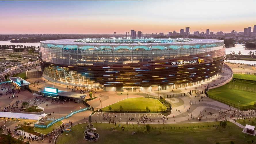 Multiplex won the Bankwest Best Project award for work on Optus Stadium and Stadium Park at the 2018 Master Builders-Bankwest Excellence in Construction Awards.