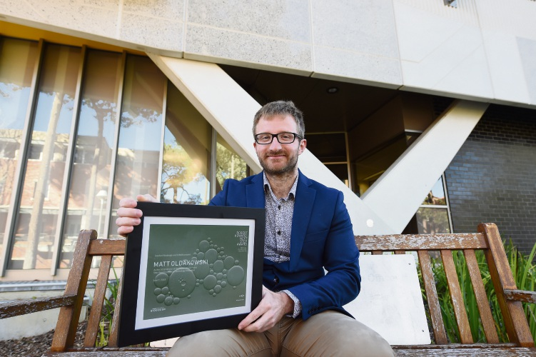 Applecross resident Matt Oldakowski has been recognised for his role in the Earbuddy project. Picture: Jon Hewson.