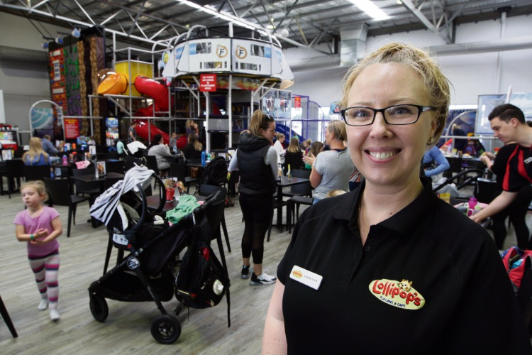 Lollipop's owner Vanessa O'Donnell in her new playland and café. Picture: Bruce Hunt